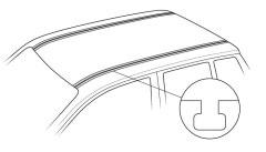 Dachträger für T-Nutleiste / C-Schiene